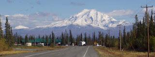 Glennallen Alaska near Wrangell-St. Elias National Park.