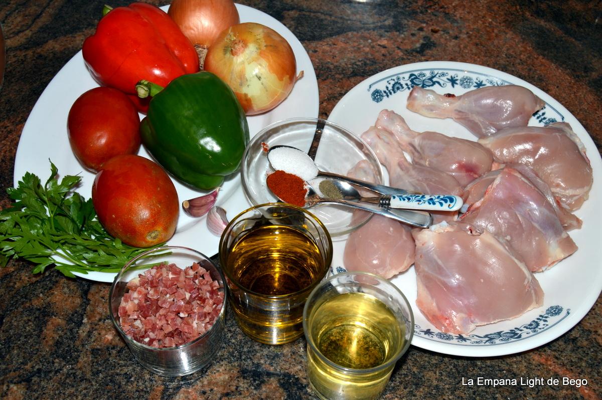 Cocinar Pollo Al Chilindron   La Empana Light De Bego Pollo Al Chilindron