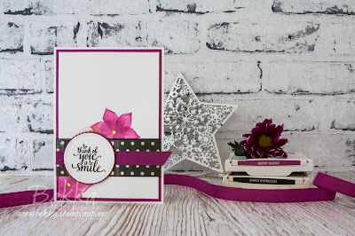 Eastern Beauty To See You Is To Smile Watercolour Card - Buy the Stampin' Up! UK Stamps here
