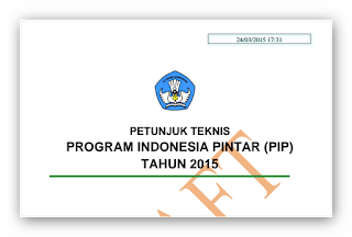 Juknis Program Indonesia Pintar ( PIP )