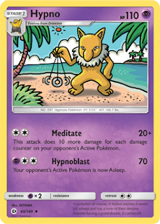 Hypno Sun and Moon Pokemon Card
