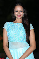 Pujita Ponnada in transparent sky blue dress at Darshakudu pre release ~  Exclusive Celebrities Galleries 112.JPG