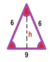calculando a altura do Triângulo isósceles