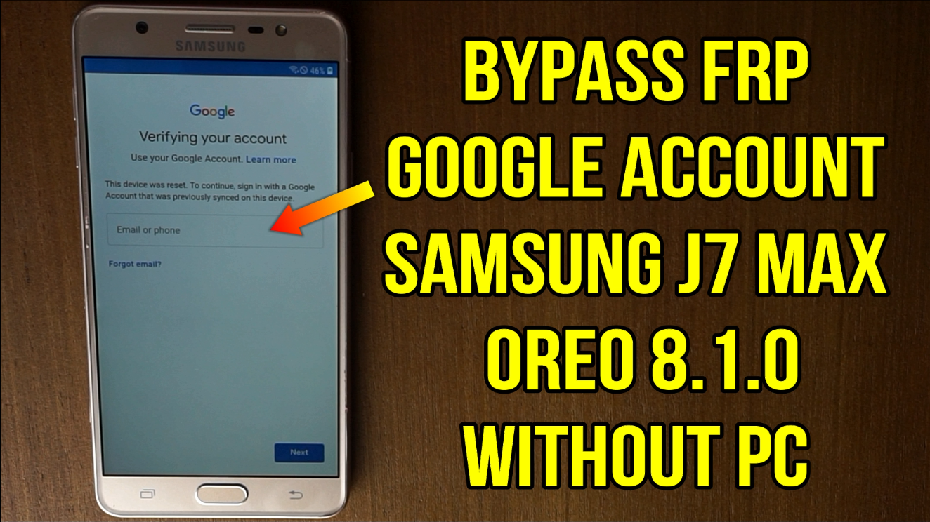 Samsung J7 Max G615F G615FU : How to bypass Frp google account oreo