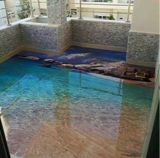 3d floor art, 3d Flooring murals, 3d epoxy floors
