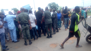 Anambra community protests over govt agents' intimidation