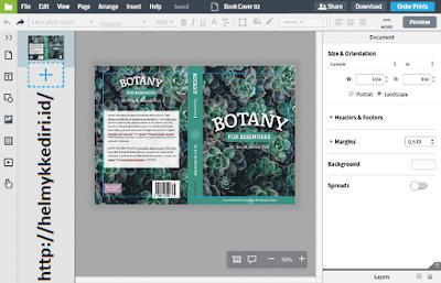 Cara membuat cover buku dengan mudahb
