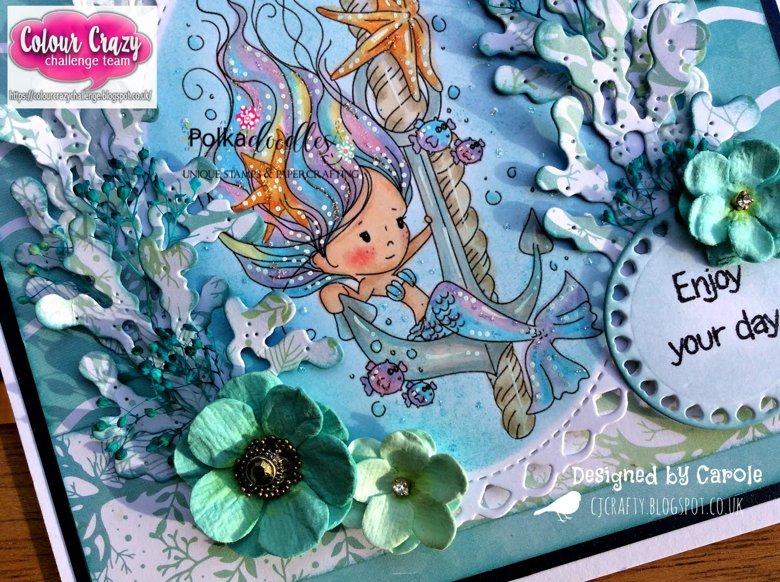 Craftilicious Creations Colour Crazy Challenge Winnie Mermaid