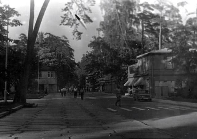 1985 год. Юрмала. Майори. На улице Йомас, когда она была еще автомобильно-пешеходной