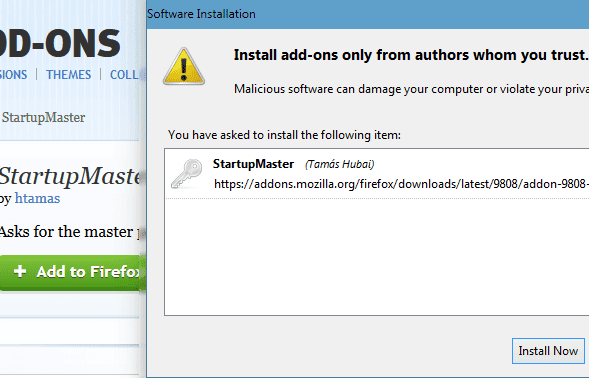 Cara Mudah Memberikan Password Pada Firefox
