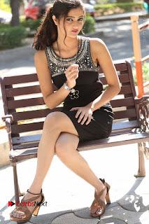 Actress Poojitha Pallavi Naidu Stills in Black Short Dress at Inkenti Nuvve Cheppu Movie Platinum Disc Function  0234.JPG