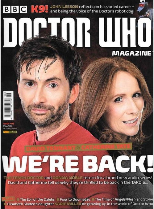 David Tennant on cover of Doctor Who Magazine #498