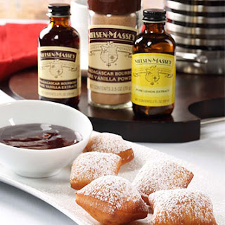 Vanilla Beignet Bites With Vanilla-Lemon Raspberry Jam