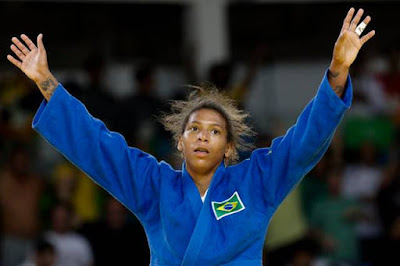 Rafaela Silva Wins First Gold for Brazil in Women's 57Kg Judo Finals