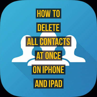 Apple doesnot allow us to delete all contacts on iPhone and iPad running any iOS version. So this might be the drawback on Apple's iOS devices. Deleting contact on iPhone is not as easy as on other phones
