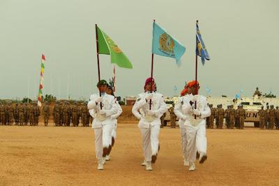 Kontingen Garuda di Sudan Gelar Upacara HUT ke-71 TNI tahun 2016