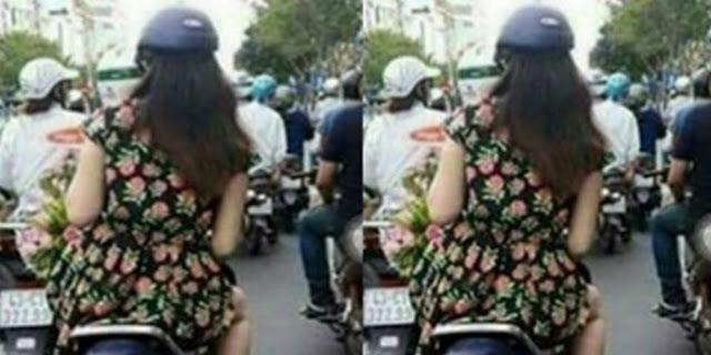 Foto Wanita Naik Motor Ini Mendadak Heboh Di Medsos, Bikin Gagal Fokus. Kira Kira Siapakah Dia?|