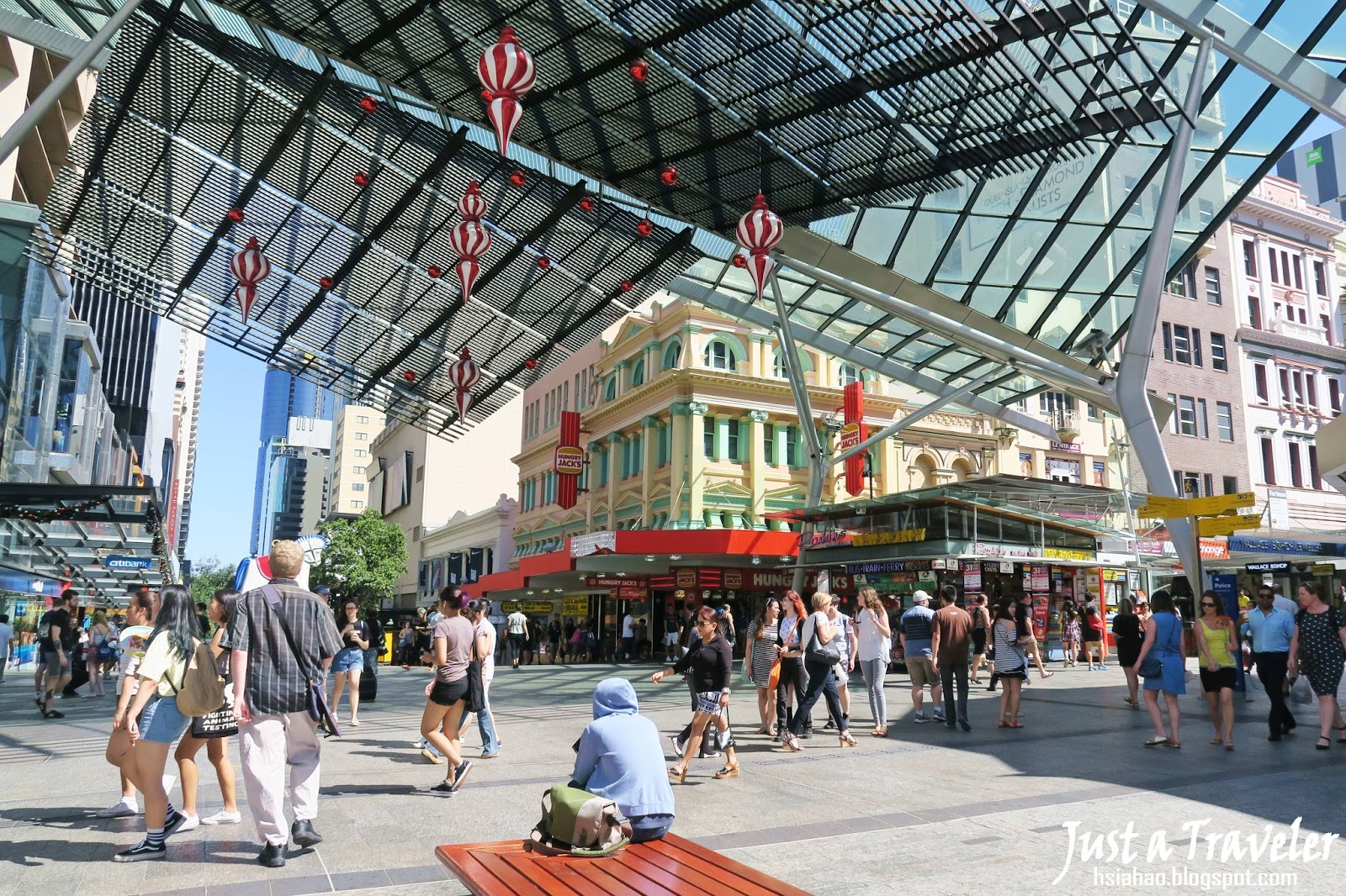 布里斯本-布里斯本景點-推薦-皇后街-旅遊-自由行-Brisbane-Attraction-Queen-Street-Shopping-Mall-Tourist-destination