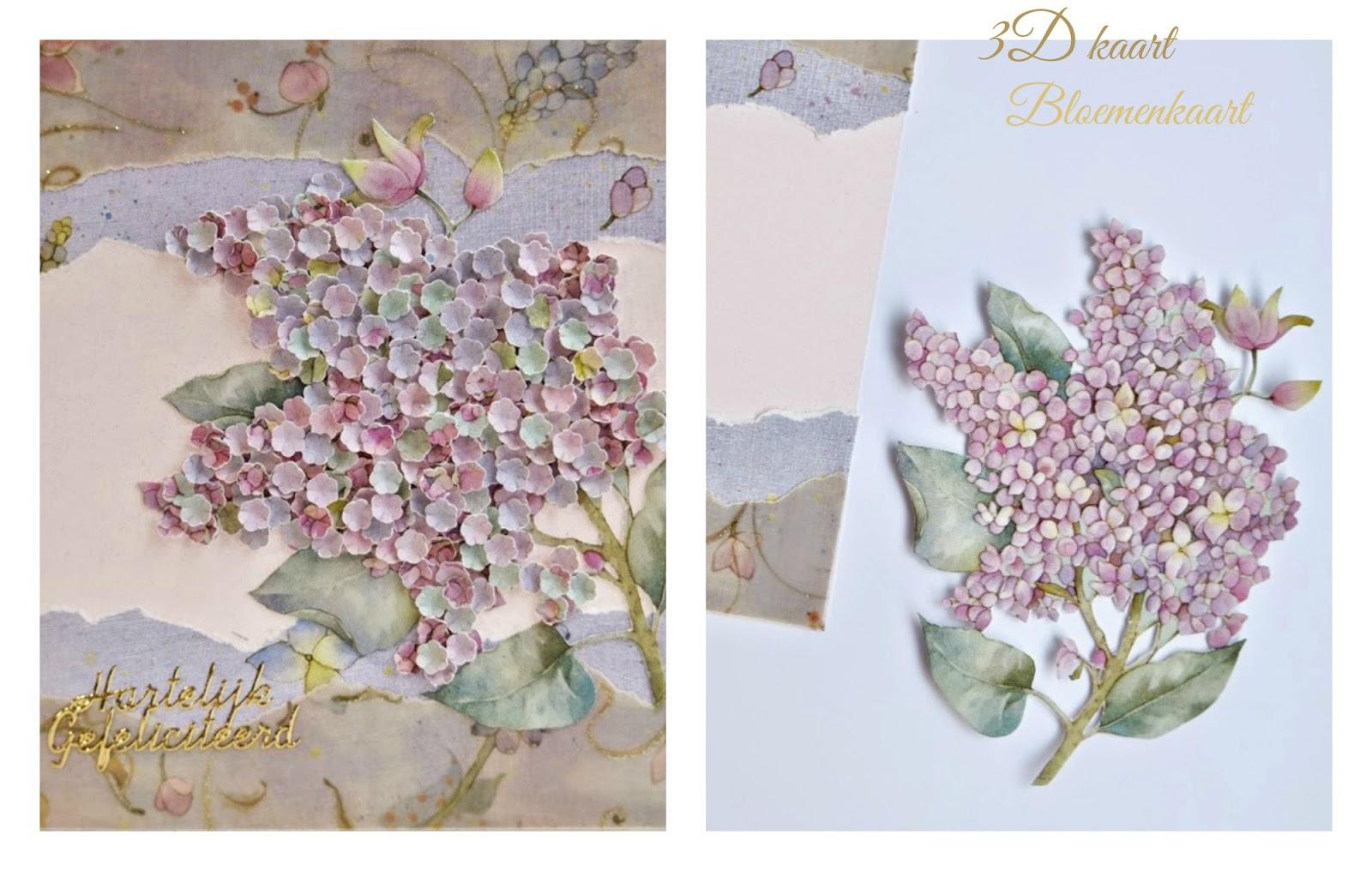 3D kaart bloemenkaart - Diy kaarten maken