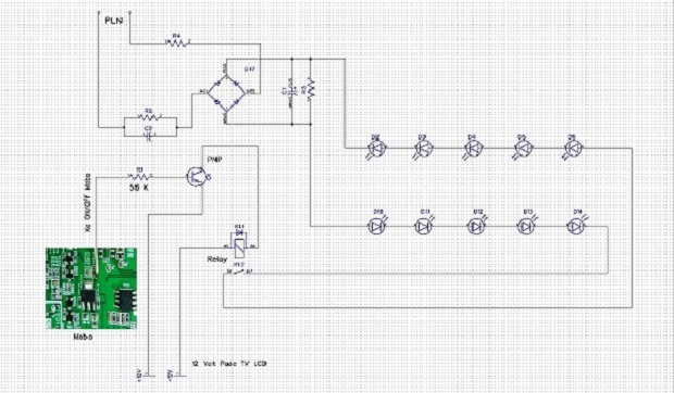 Proses perakitan Lampu LED 5 watt agar bisa menjadi pengganti Lampu LCD