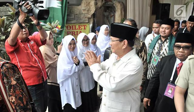 Prabowo ke LDII: Saya Datang Tak Minta Dukungan, tapi Minta Doa Boleh Kan