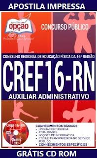 Apostila Concurso CREF-RN Auxiliar Administrativo 2017