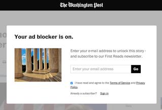 Mensaje página Web anti Adblock