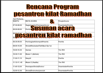 Download Program Pesantren Kilat Ramadhan-File Sekolah