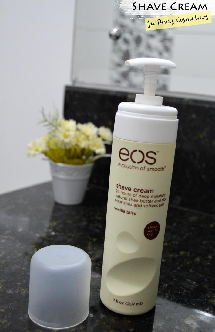 EOS, Ju Divas, Joinville, Blog famoso, cosméticos, Blog da Jana, Ju Divas Cosméticos - Shave Cream EOS