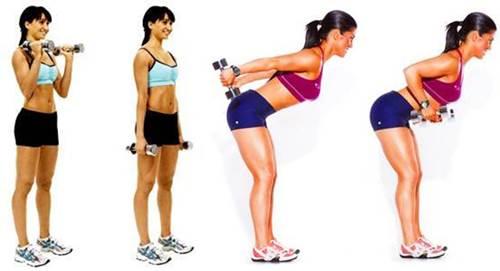 Ejercicios para bíceps y triceps mujeres