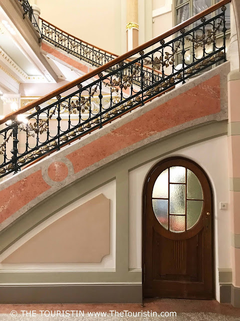 Latvian National Museum of Art Riga. Staircase. Door. The Touristin