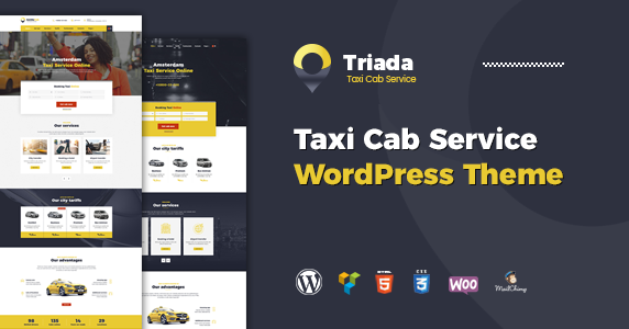 Free Template Wp Theme: Force Free ThemeForest – Triada – Taxi ...