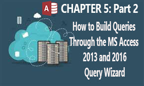 How to build advanced queries throghh the ms access query wizard