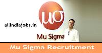 Mu Sigma Recruitment