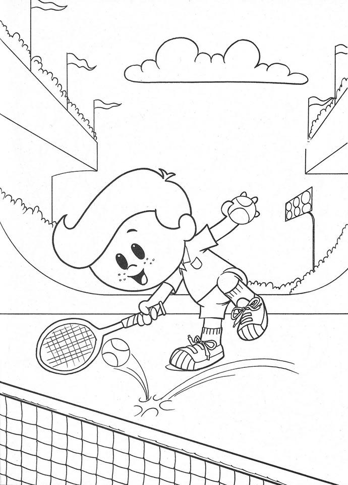colorear dibujo tenis