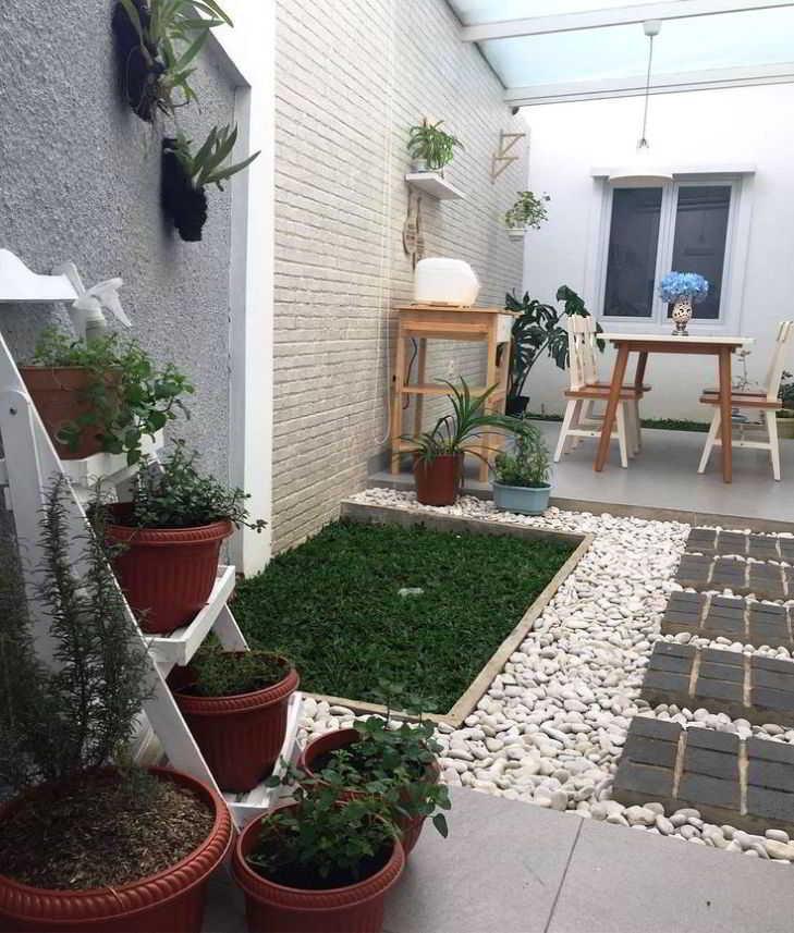 Foto Taman Sederhana Belakang Rumah Minimalis