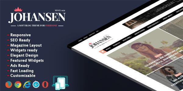 Johansen-magazine-blogger-template