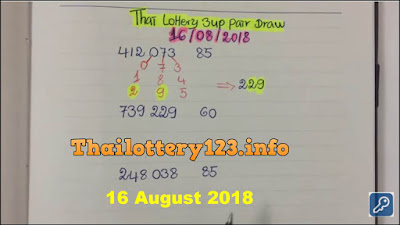 Thai lottery 3UP single pair VIP formula Tips 16 August 2018