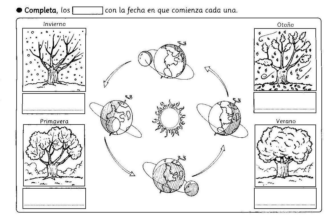 Dibujos De Las 4 Estaciones Para Colorear: RECURSOS Y ACTIVIDADES PARA