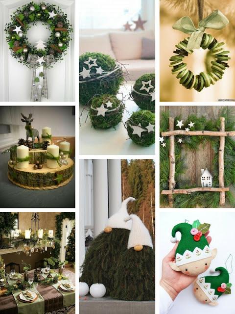 natale green con materiali naturali
