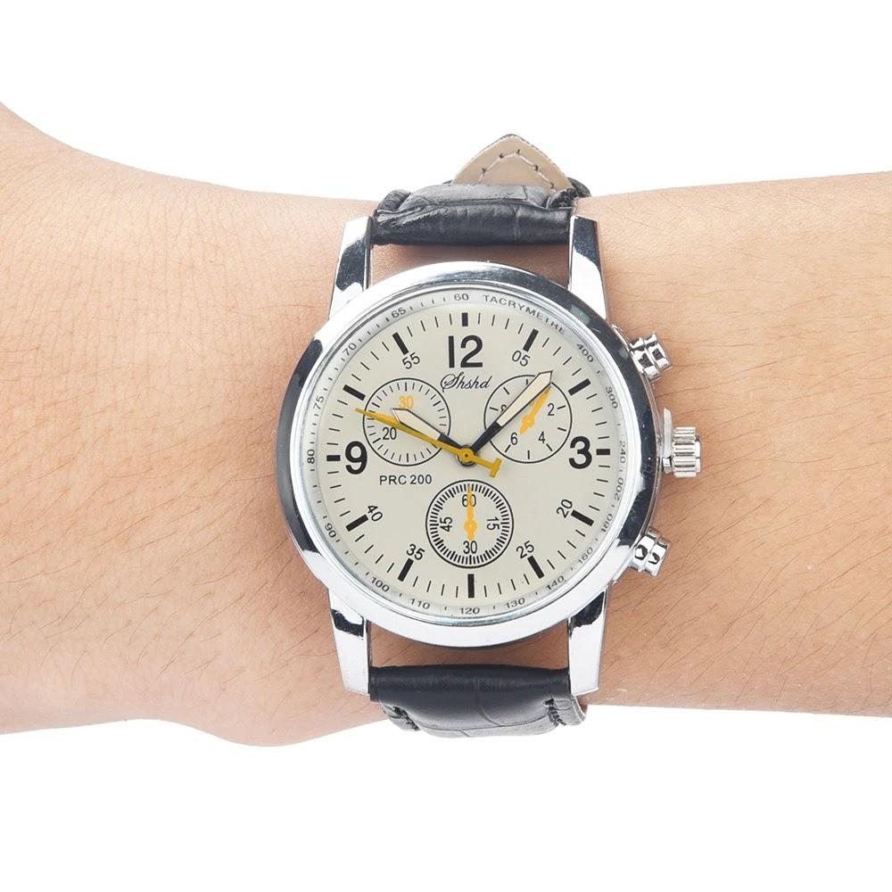 2ed9a970c2f0 Reloj Cuero Unisex cuarzo color blanco correa negra
