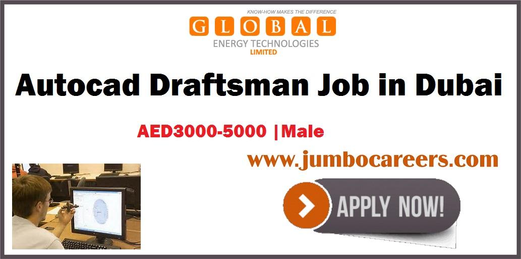 Autocad Draftsman Jobs in Dubai Free Visa and Salary AED 3000-5000