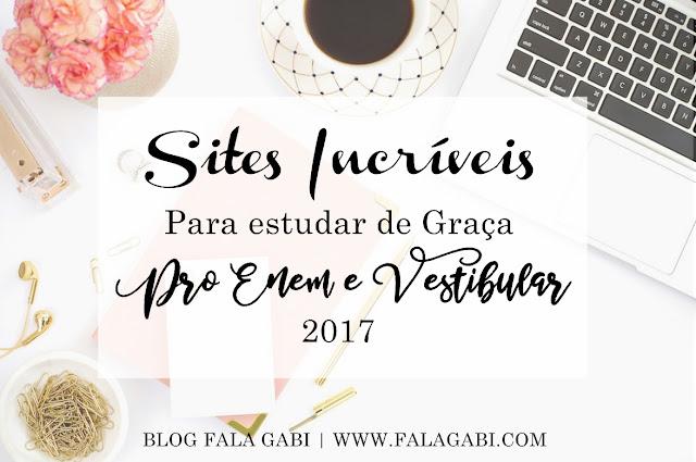 Sites Incríveis para estudar de Graça pro Enem e Vestibular 2017