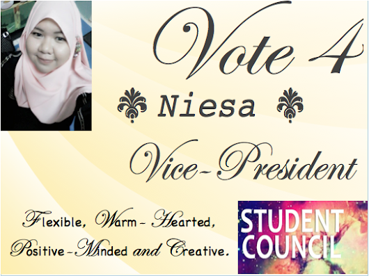 Vote for me as Vice President!!