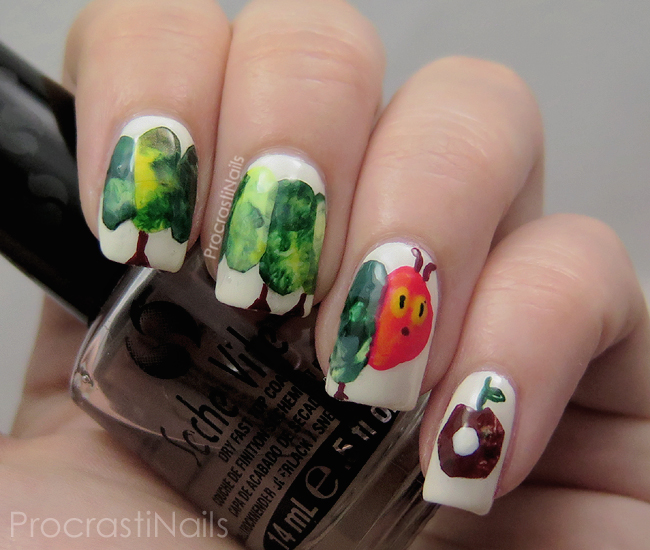 The Very Hungry Caterpillar Nail Art for Children's Book Day