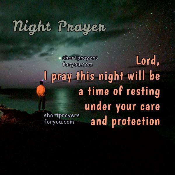 Night Time Prayer Quotes: Night Prayer, Time Of Resting
