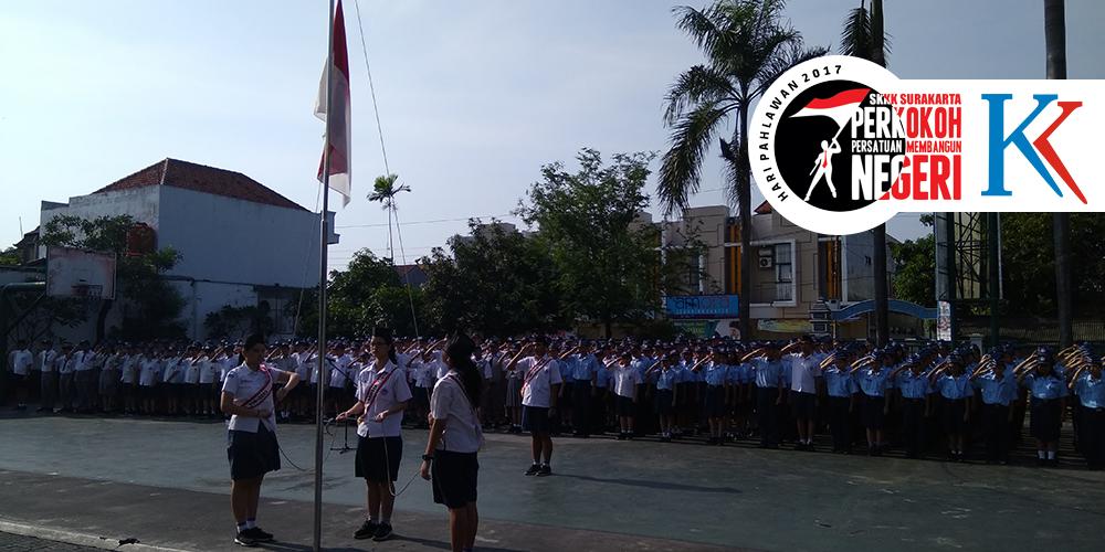Peringati Hari Pahlawan, SKKK Surakarta Gelar Upacara Bendera