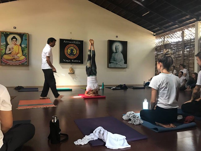 Venkatesha Teaching Yoga in Mysore