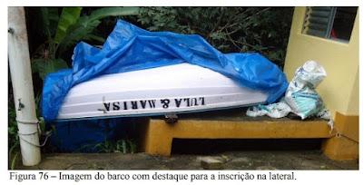 Barquinho de Lula e Marisa no sítio de Atibaia