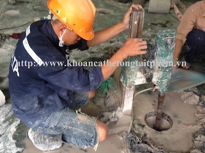 Khoan cắt bê tông tại huyện Phú Tân, Cà Mau
